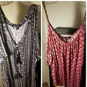 2 cold shoulder 2x tops from one clothing